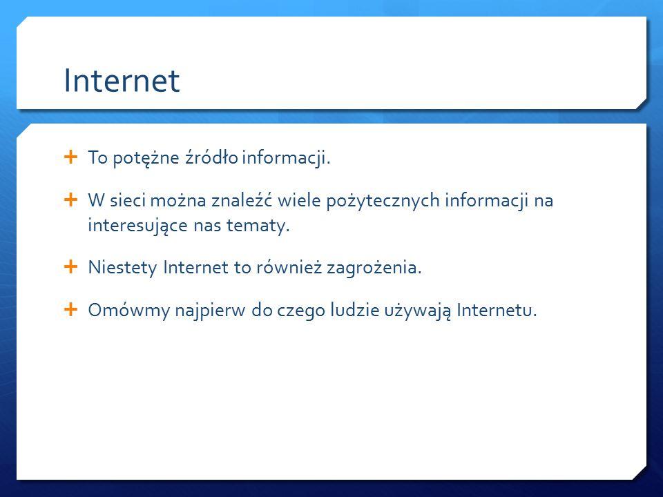 Internet To potężne źródło informacji.