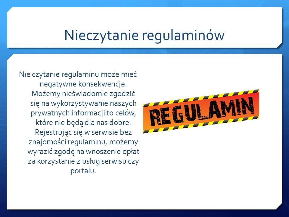 Nieczytanie regulaminów