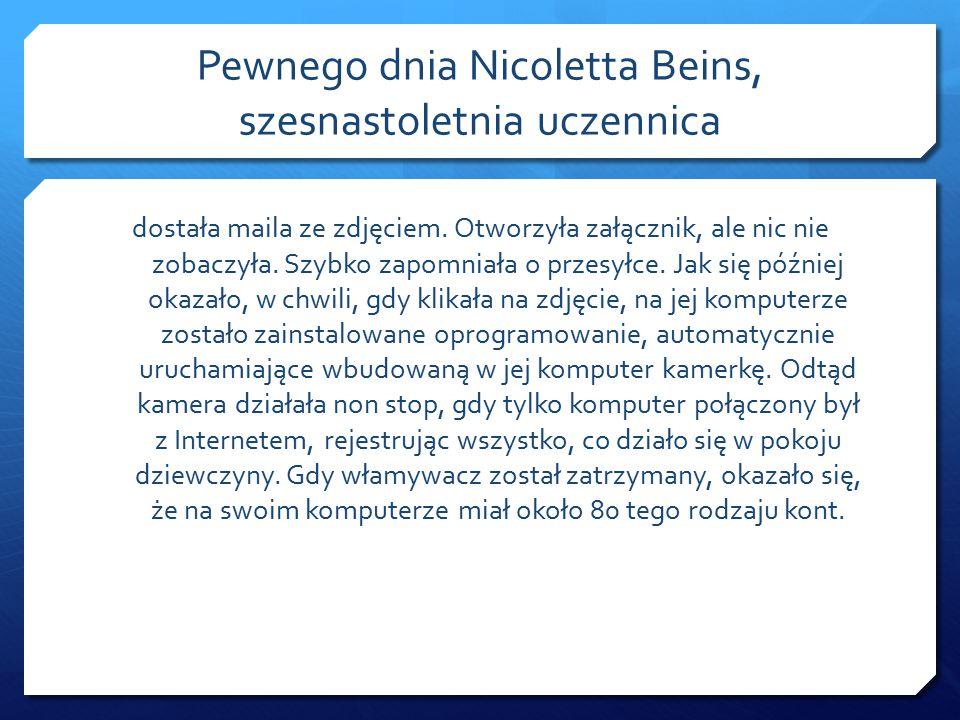 Pewnego dnia Nicoletta Beins, szesnastoletnia uczennica