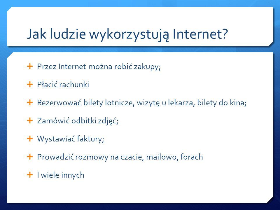 Jak ludzie wykorzystują Internet