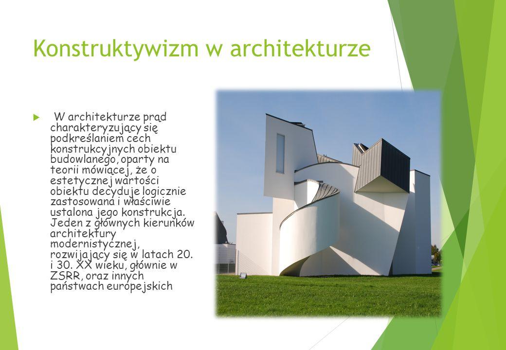 Konstruktywizm w architekturze