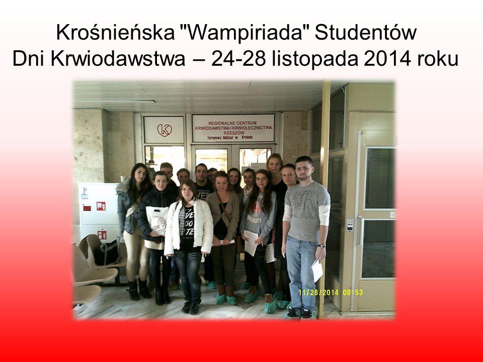 Krośnieńska Wampiriada Studentów Dni Krwiodawstwa – 24-28 listopada 2014 roku