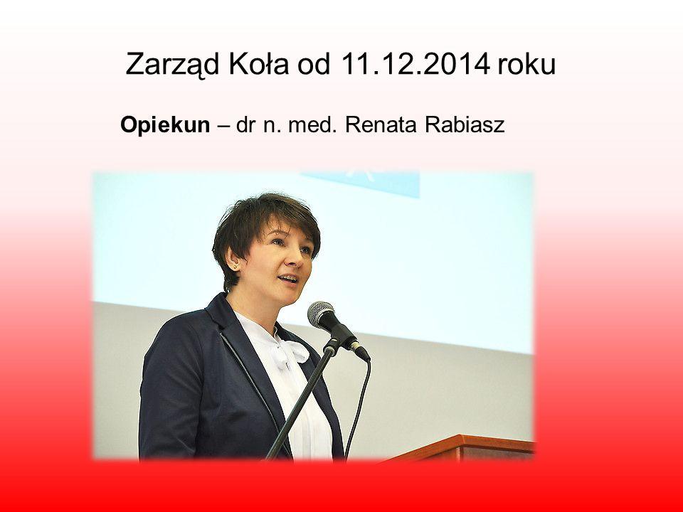 Opiekun – dr n. med. Renata Rabiasz