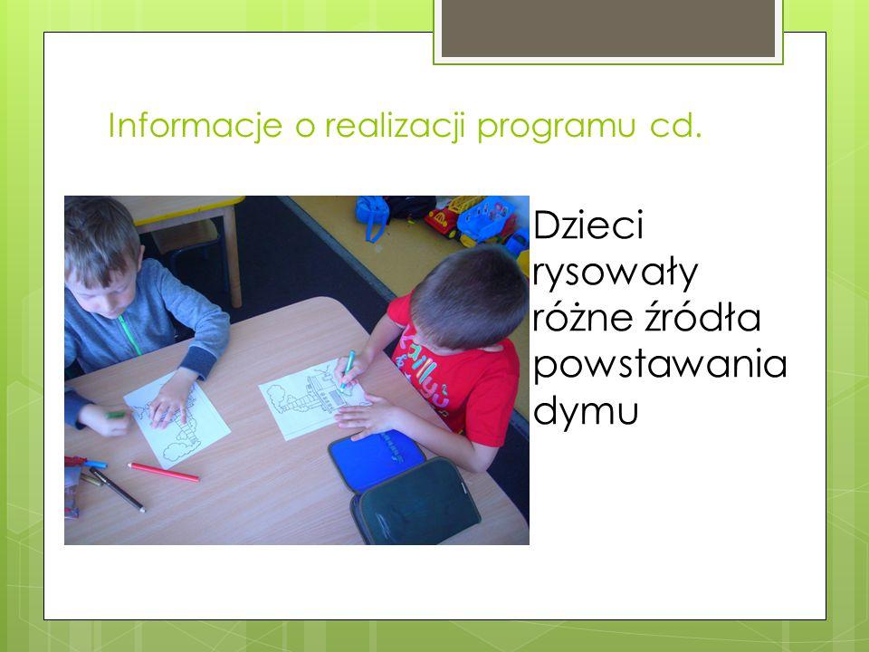 Informacje o realizacji programu cd.