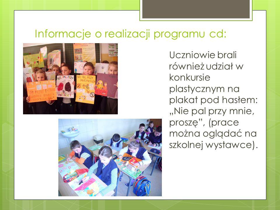 Informacje o realizacji programu cd: