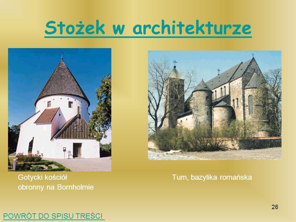 Stożek w architekturze