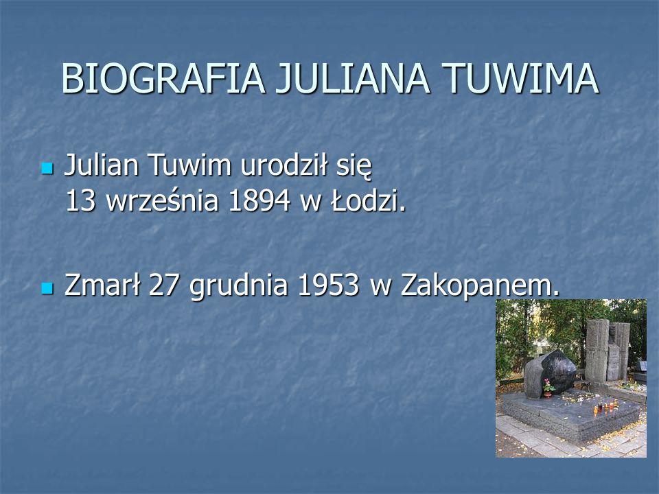 BIOGRAFIA JULIANA TUWIMA