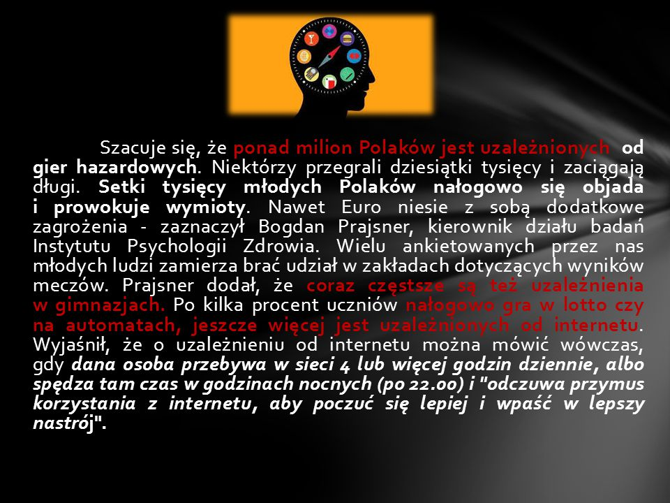 Szacuje się, że ponad milion Polaków jest uzależnionych od gier hazardowych.