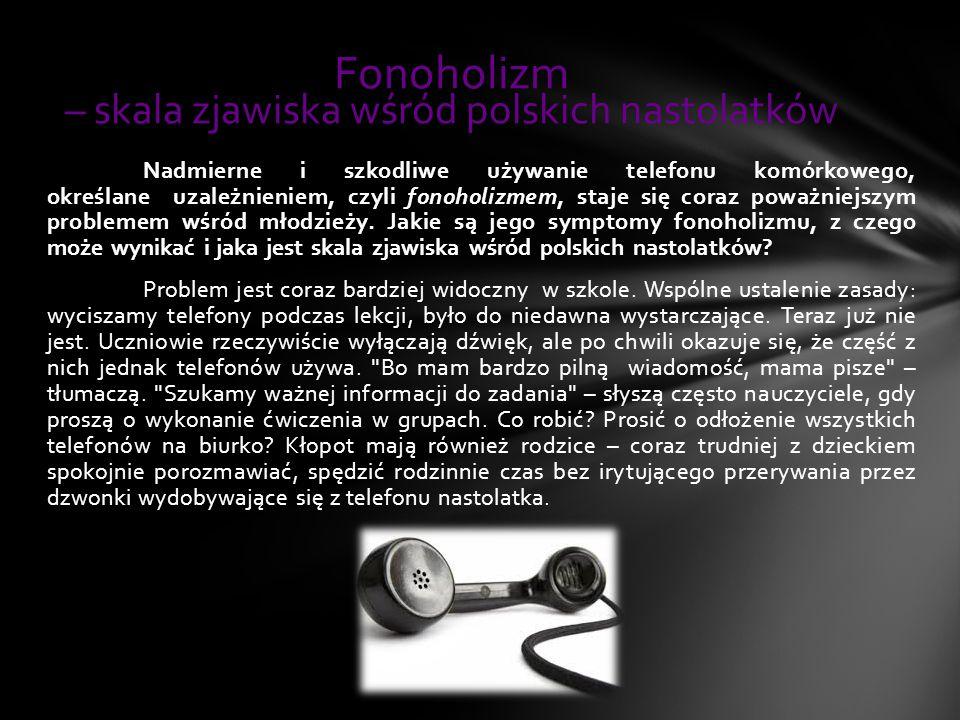 Fonoholizm – skala zjawiska wśród polskich nastolatków
