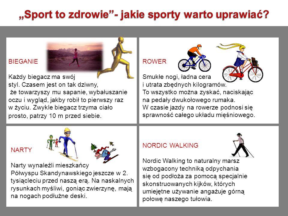 """""""Sport to zdrowie - jakie sporty warto uprawiać"""