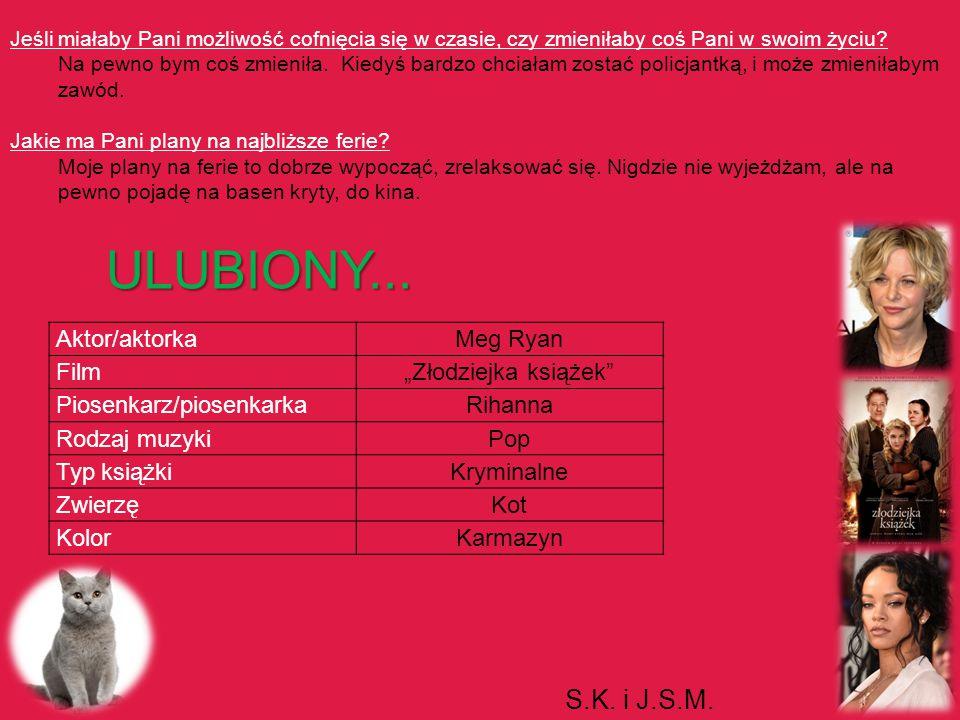 ULUBIONY... S.K. i J.S.M. Aktor/aktorka Meg Ryan Film