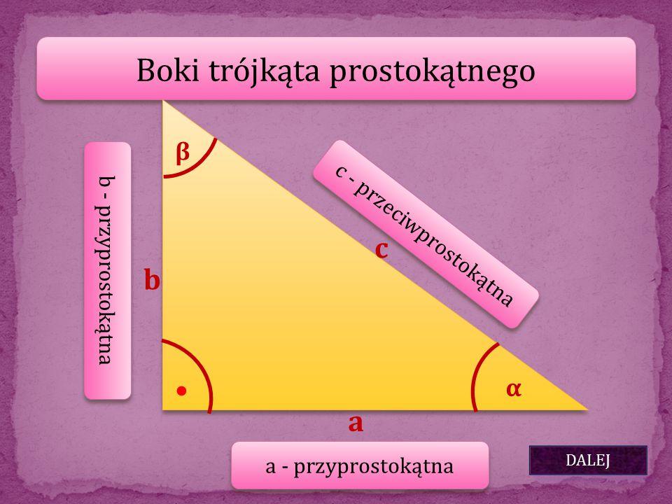 Boki trójkąta prostokątnego