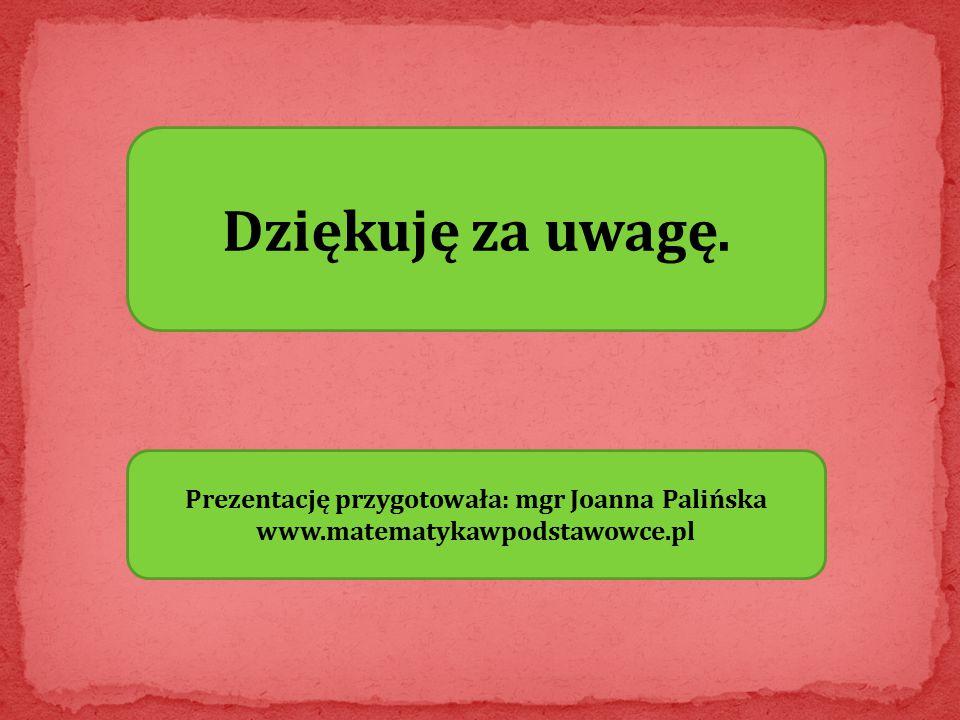 Prezentację przygotowała: mgr Joanna Palińska