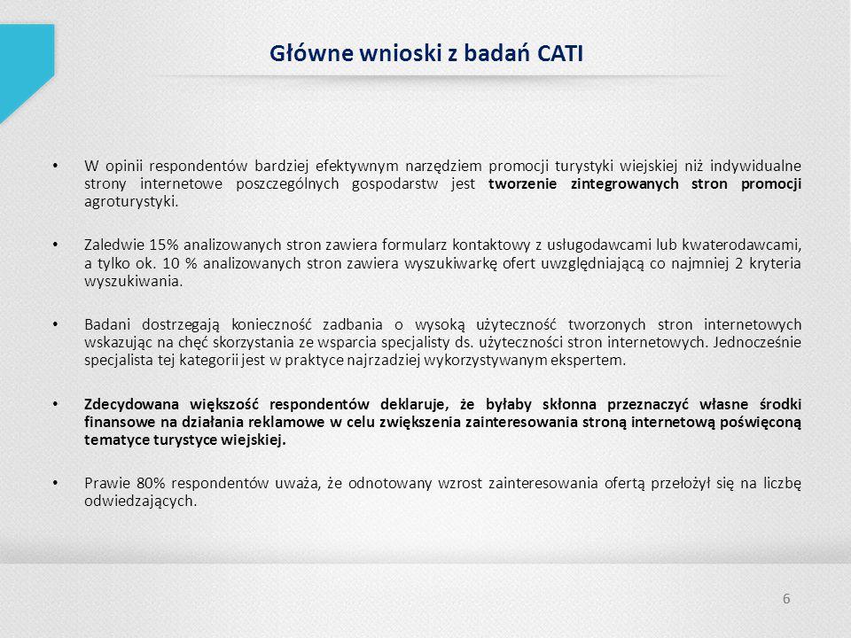 Główne wnioski z badań CATI