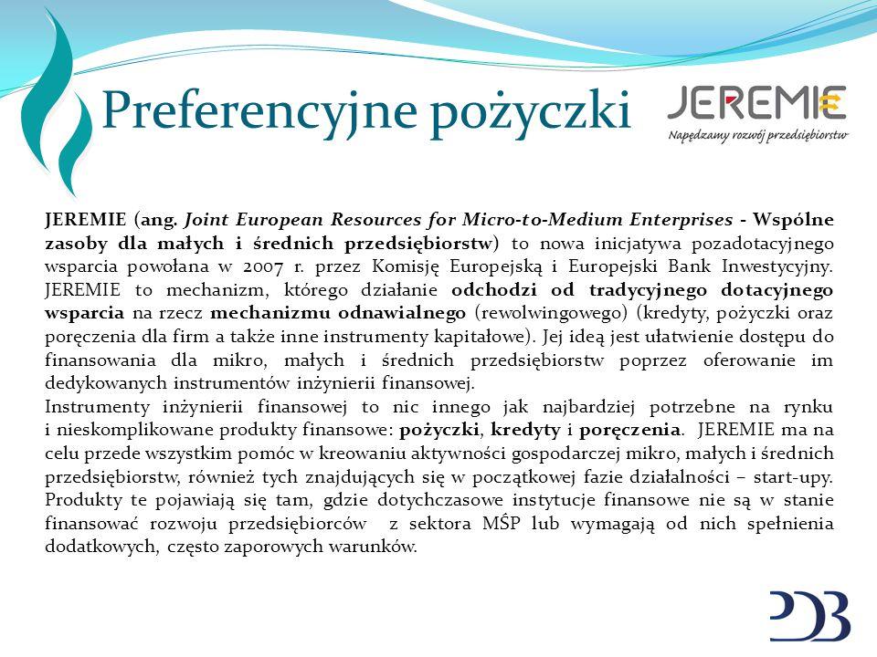 Preferencyjne pożyczki