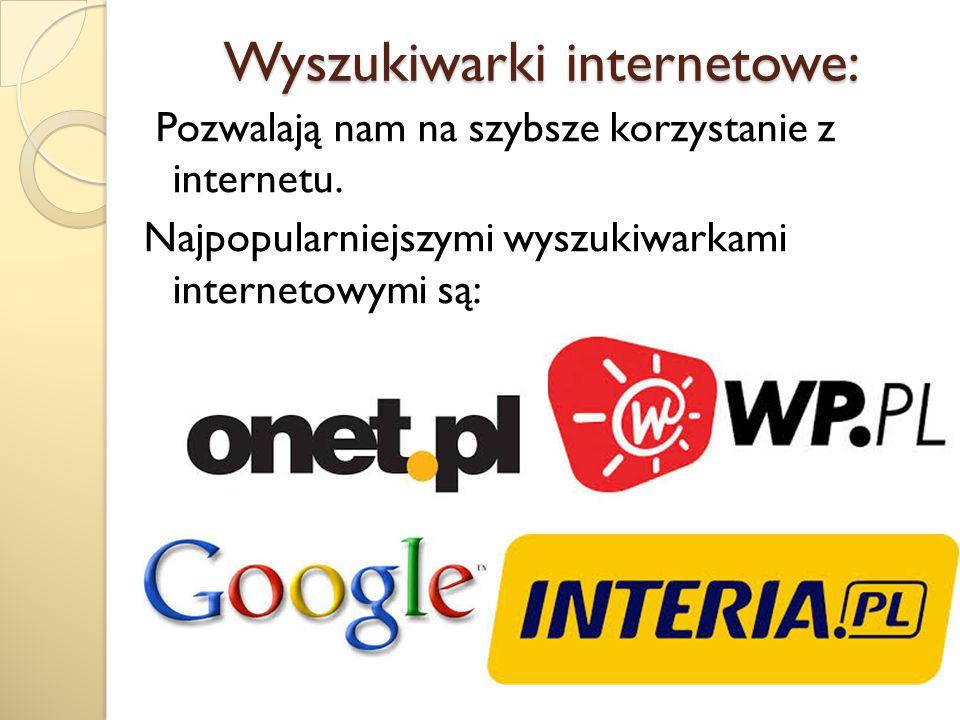 Wyszukiwarki internetowe: