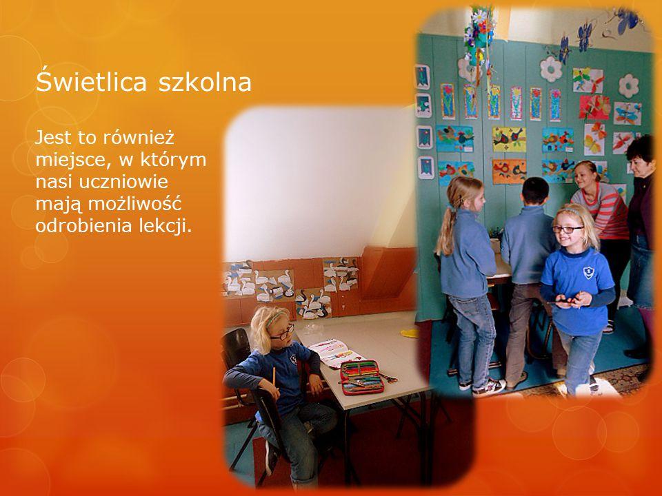 Świetlica szkolna Jest to również miejsce, w którym nasi uczniowie mają możliwość odrobienia lekcji.