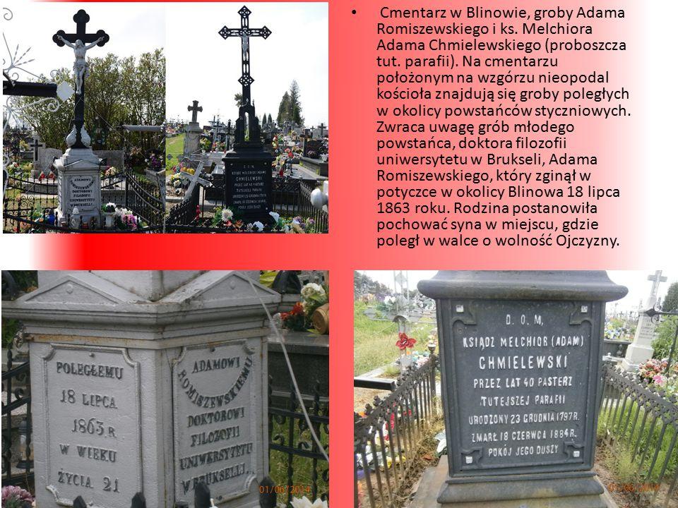 Cmentarz w Blinowie, groby Adama Romiszewskiego i ks