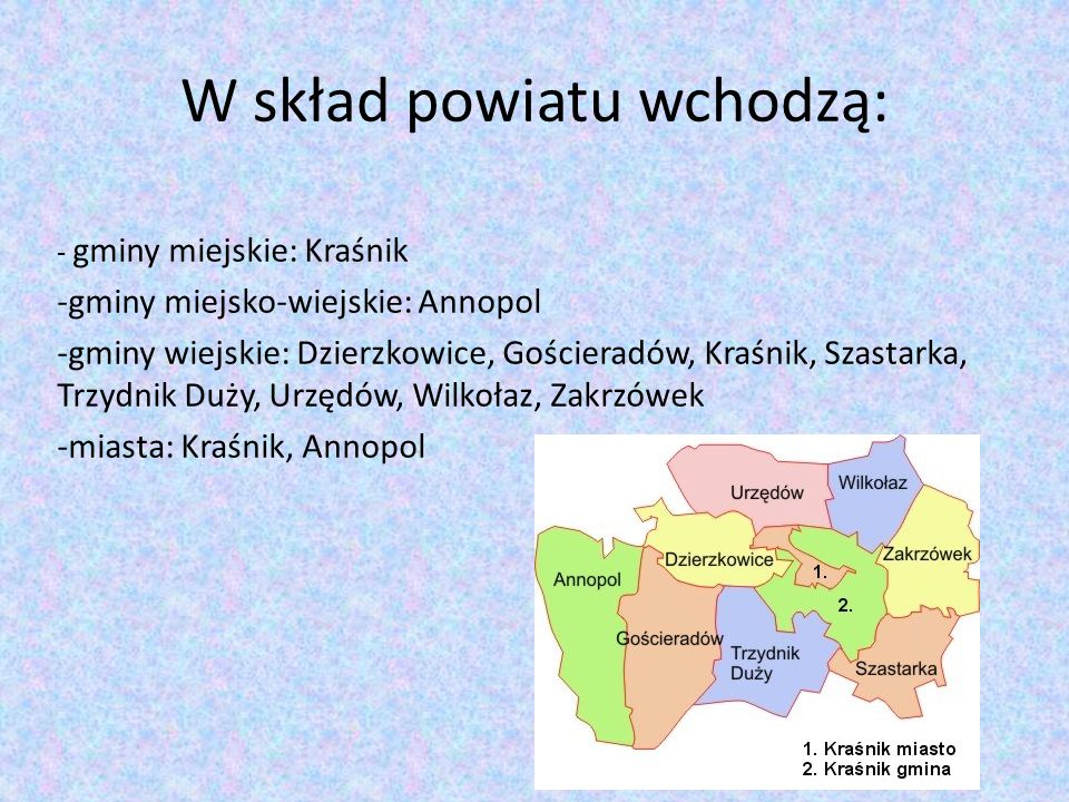 W skład powiatu wchodzą: