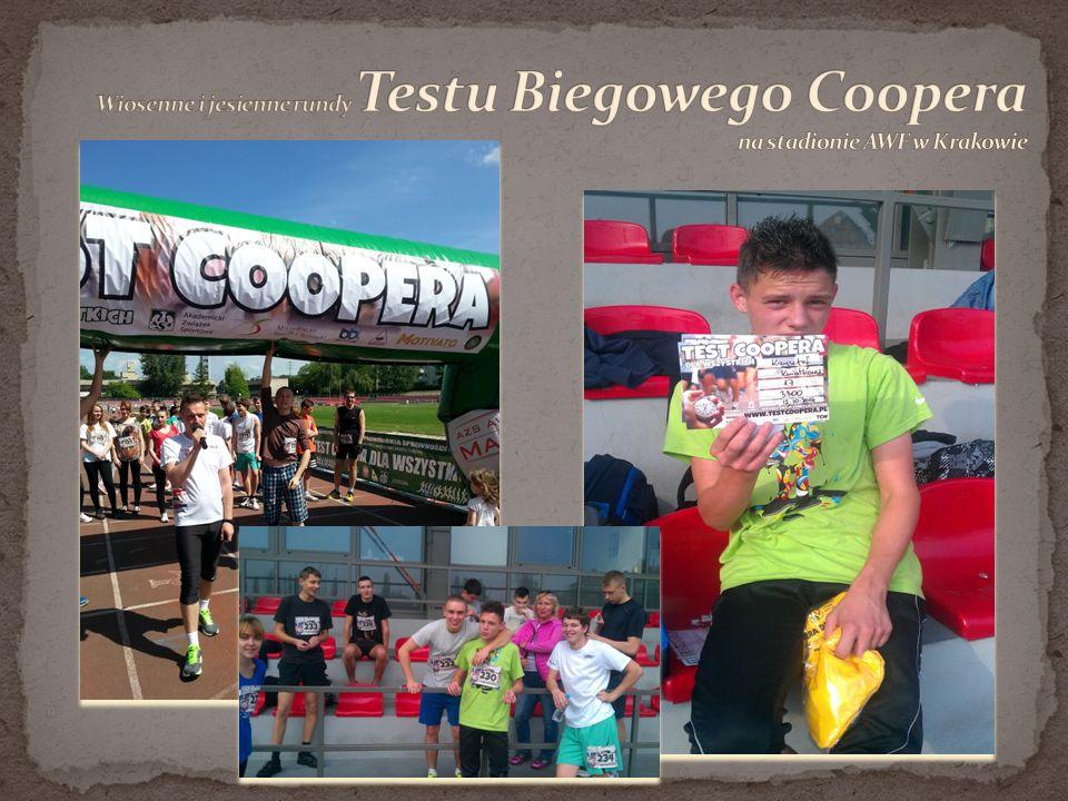 Wiosenne i jesienne rundy Testu Biegowego Coopera na stadionie AWF w Krakowie