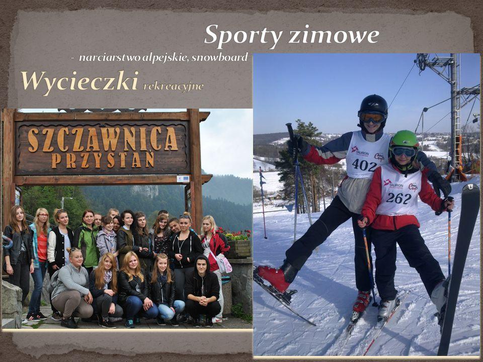 Sporty zimowe - narciarstwo alpejskie, snowboard Wycieczki rekreacyjne