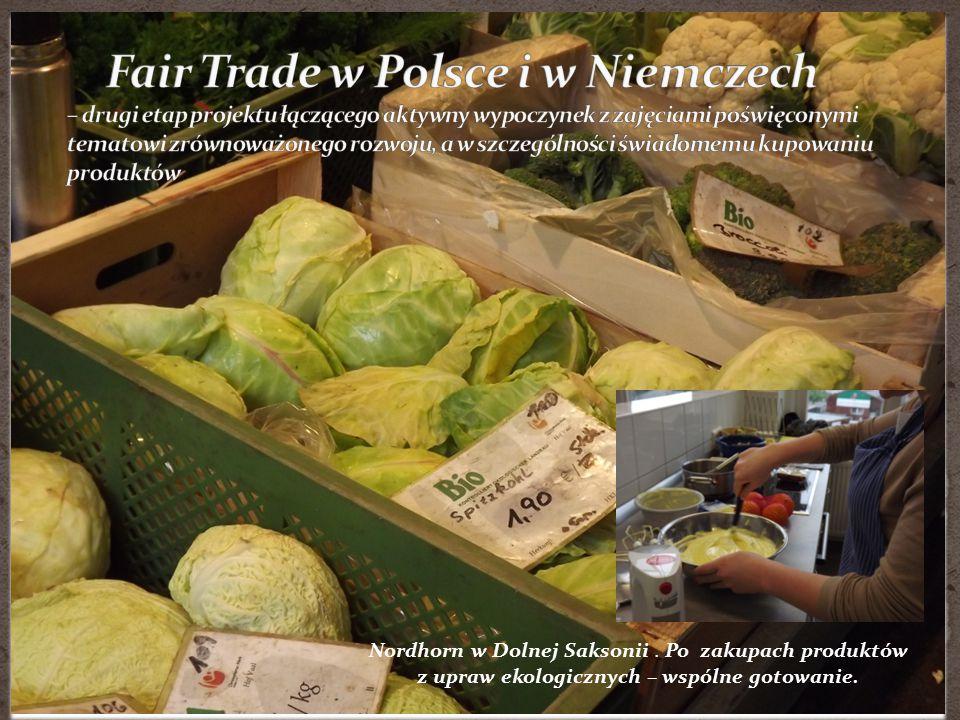 Fair Trade w Polsce i w Niemczech – drugi etap projektu łączącego aktywny wypoczynek z zajęciami poświęconymi tematowi zrównoważonego rozwoju, a w szczególności świadomemu kupowaniu produktów