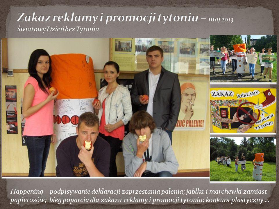 Zakaz reklamy i promocji tytoniu – maj 2013 Światowy Dzień bez Tytoniu