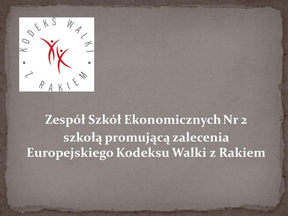 szkołą promującą zalecenia Europejskiego Kodeksu Walki z Rakiem