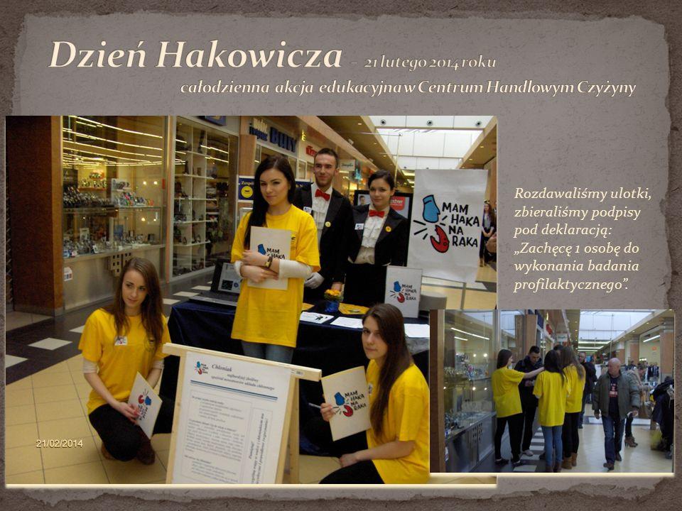Dzień Hakowicza – 21 lutego 2014 roku całodzienna akcja edukacyjna w Centrum Handlowym Czyżyny