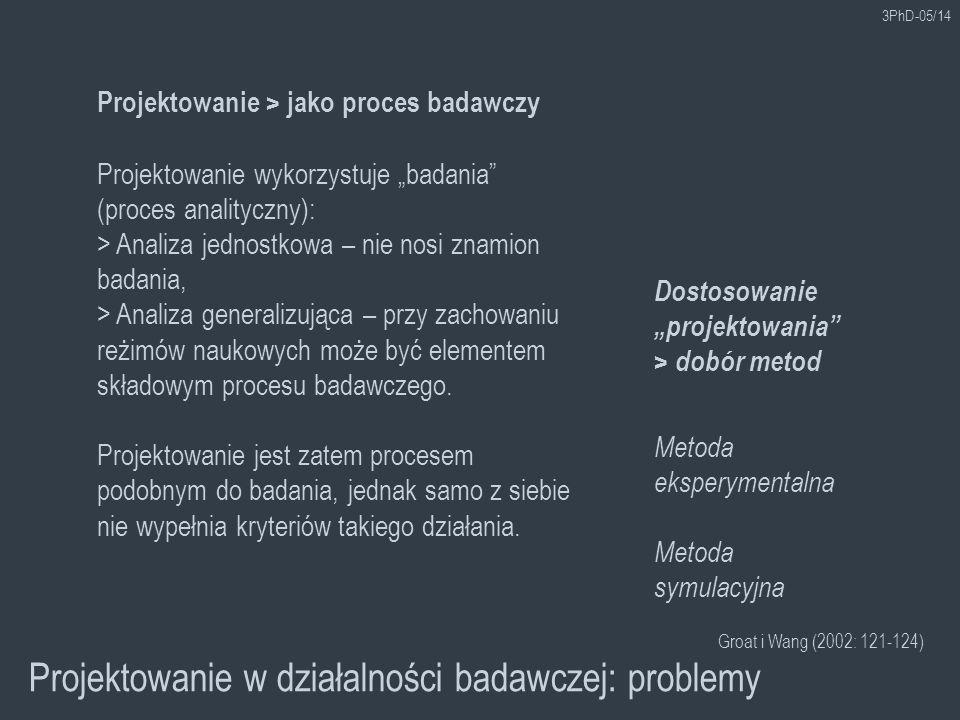 Projektowanie w działalności badawczej: problemy