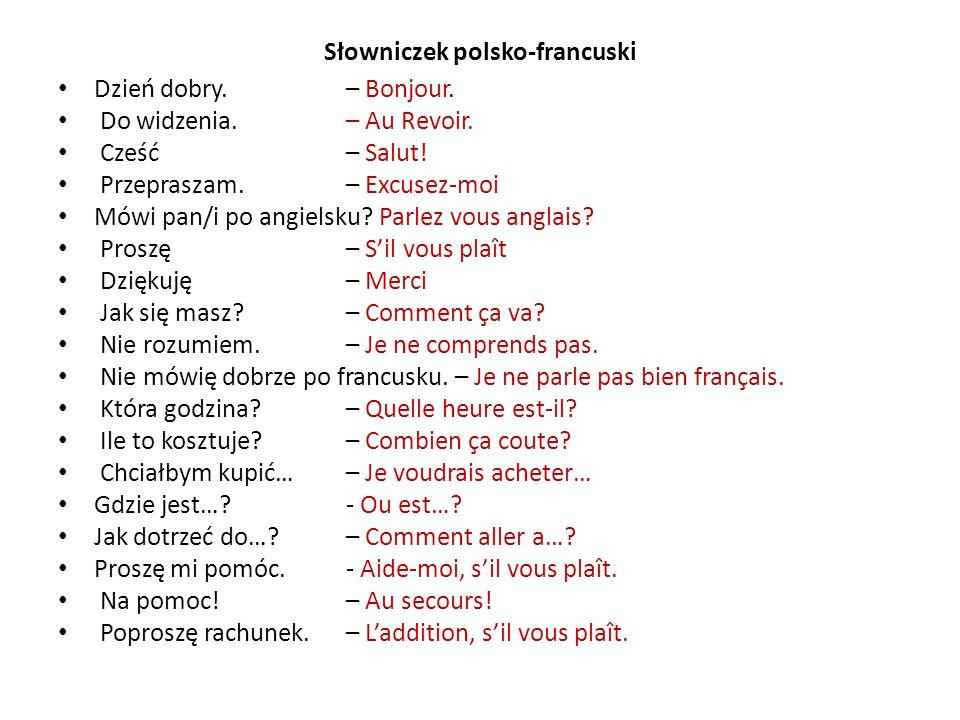 Słowniczek polsko-francuski