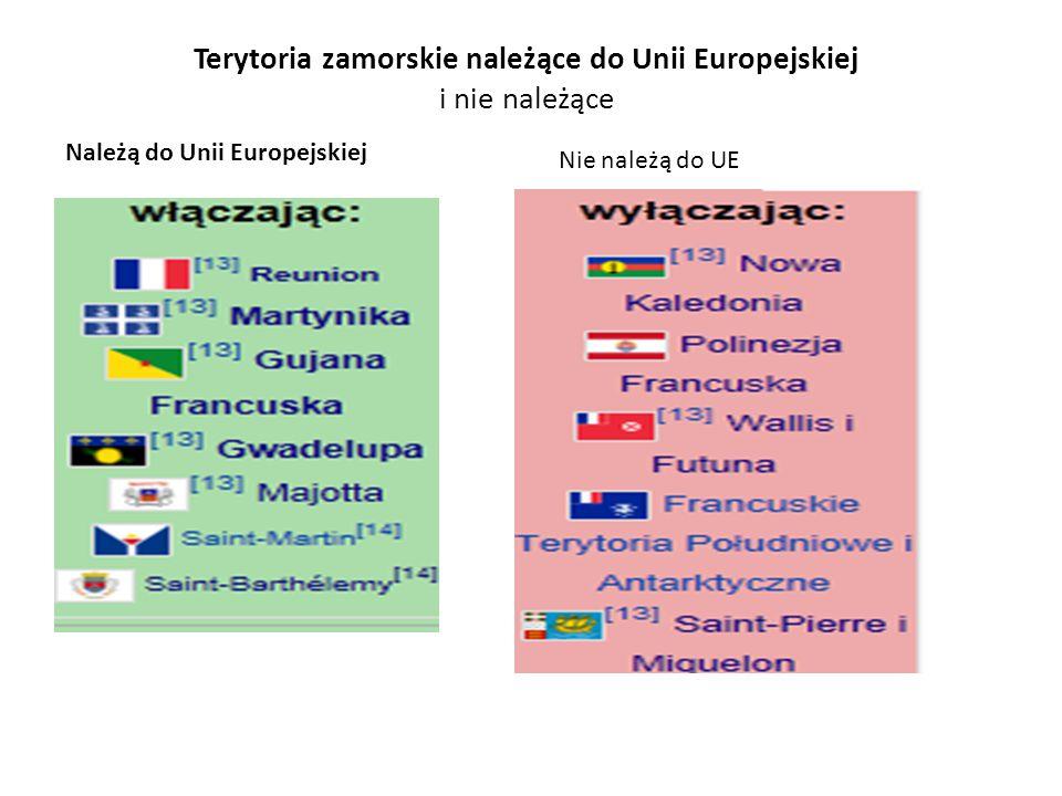 Terytoria zamorskie należące do Unii Europejskiej i nie należące