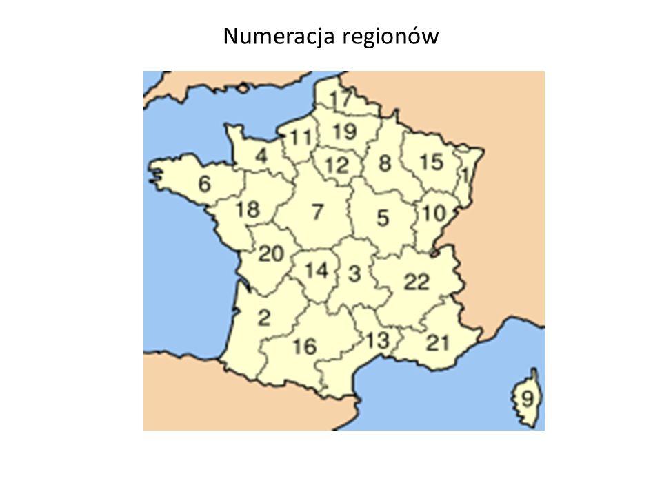 Numeracja regionów