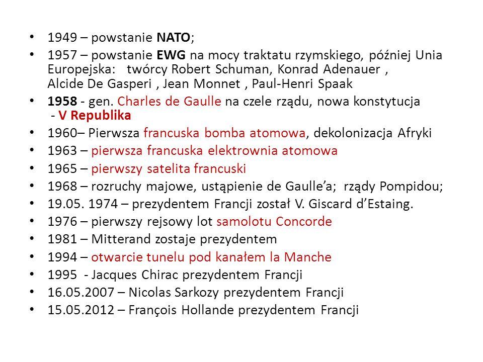 1949 – powstanie NATO;