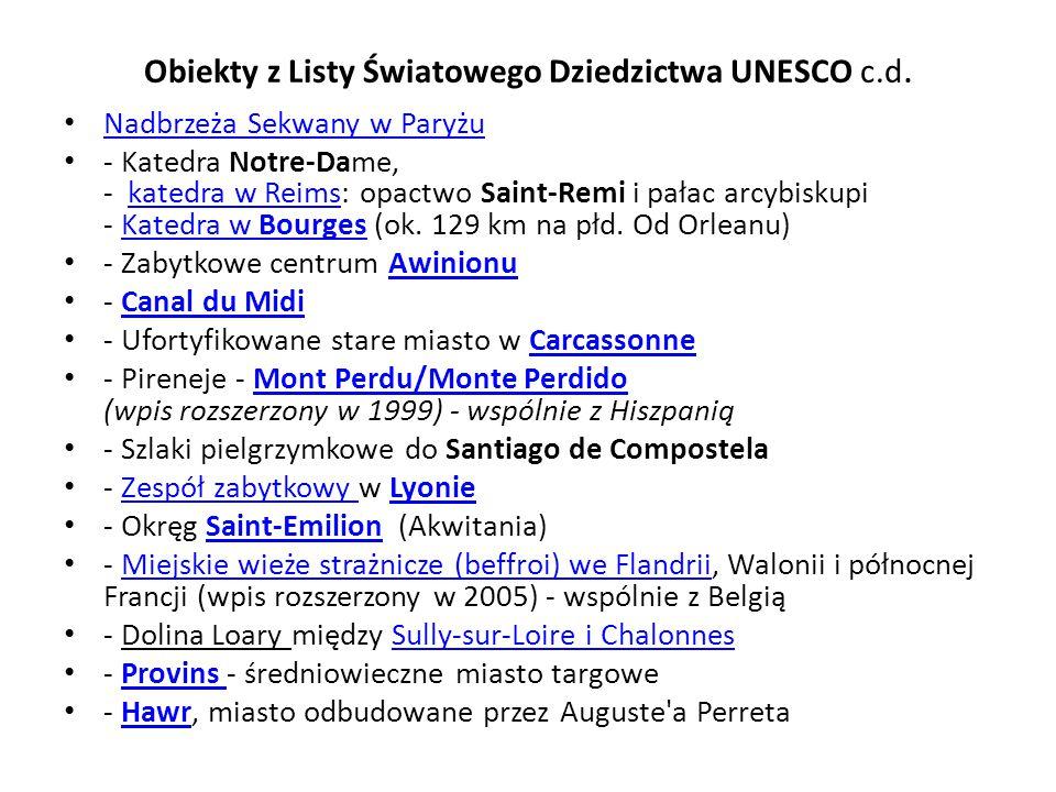 Obiekty z Listy Światowego Dziedzictwa UNESCO c.d.