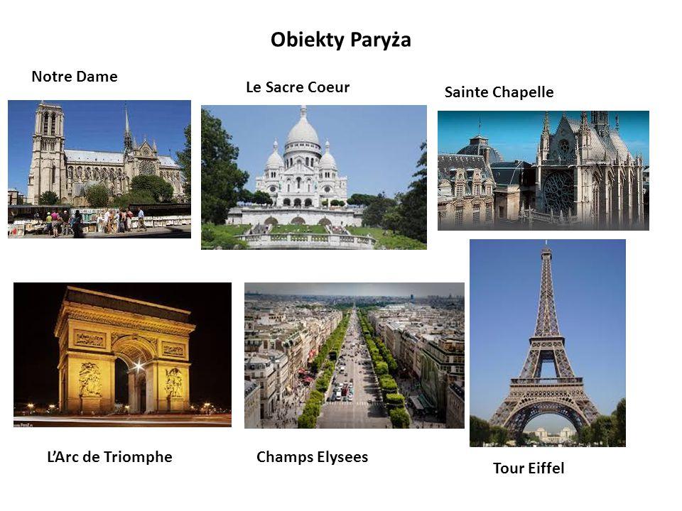 Obiekty Paryża Notre Dame Le Sacre Coeur Sainte Chapelle