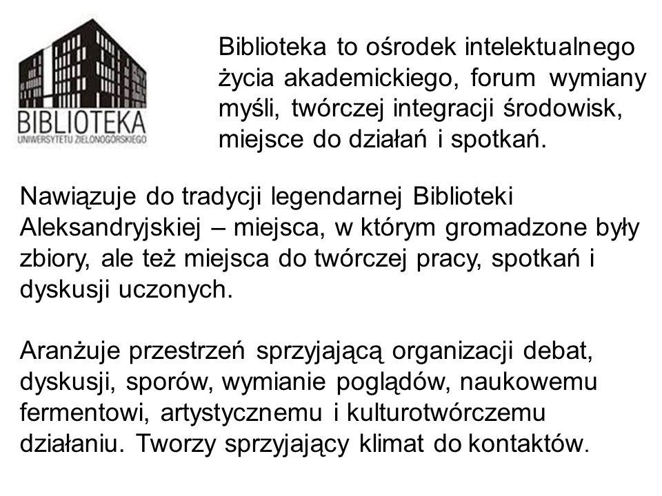 Biblioteka to ośrodek intelektualnego. życia akademickiego, forum