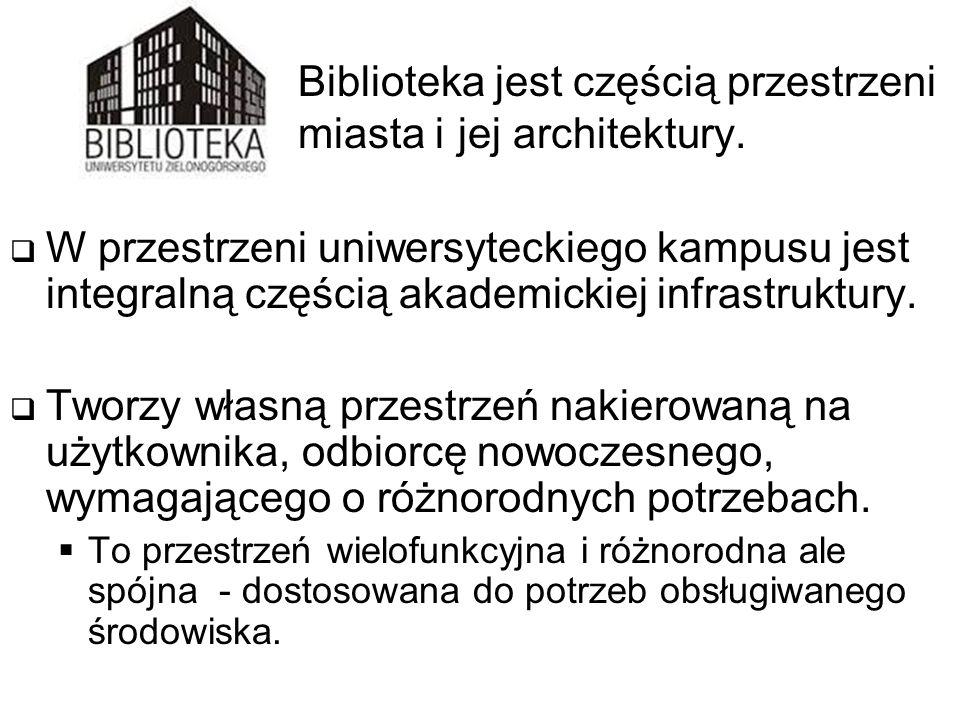 Biblioteka jest częścią przestrzeni miasta i jej architektury.