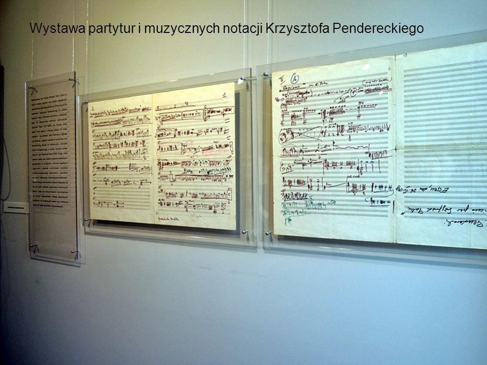 Wystawa partytur i muzycznych notacji Krzysztofa Pendereckiego