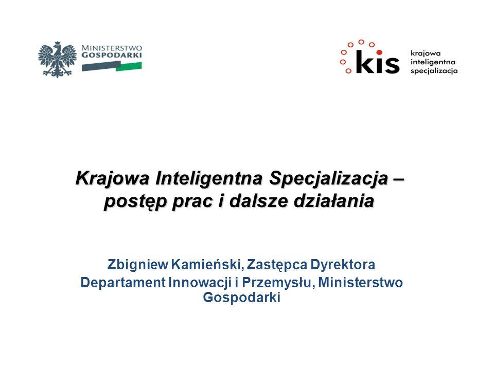 Krajowa Inteligentna Specjalizacja – postęp prac i dalsze działania