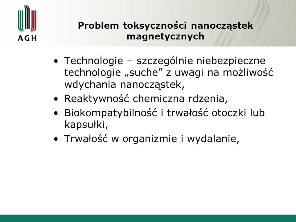 Problem toksyczności nanocząstek magnetycznych
