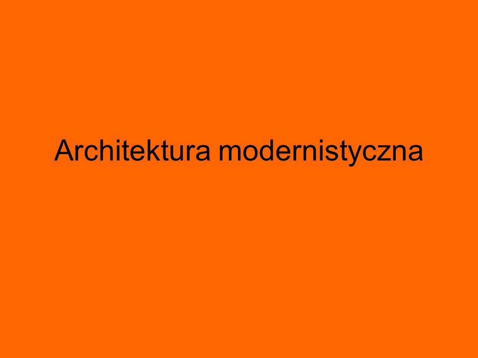 Architektura modernistyczna