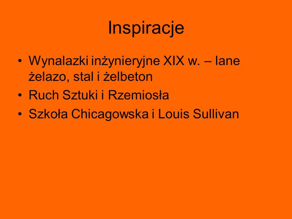 Inspiracje Wynalazki inżynieryjne XIX w. – lane żelazo, stal i żelbeton.