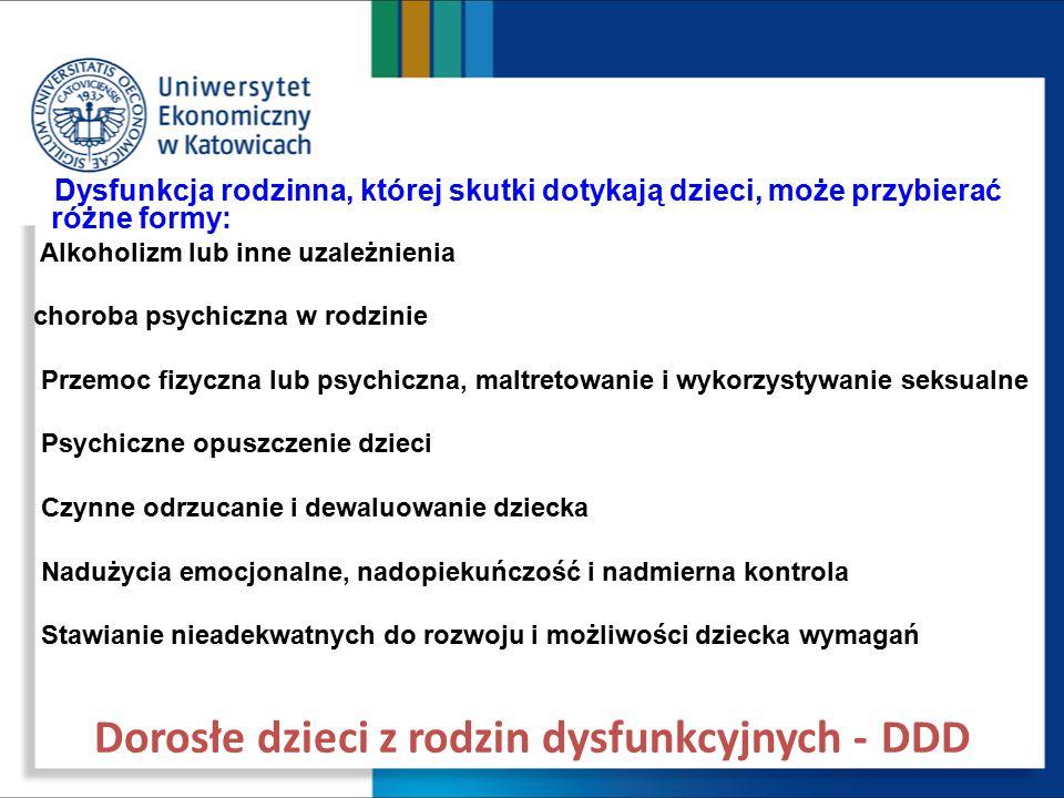 Dorosłe dzieci z rodzin dysfunkcyjnych - DDD
