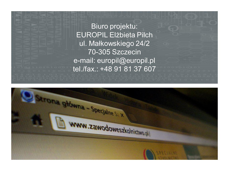 EUROPIL Elżbieta Pilch ul. Małkowskiego 24/2 70-305 Szczecin