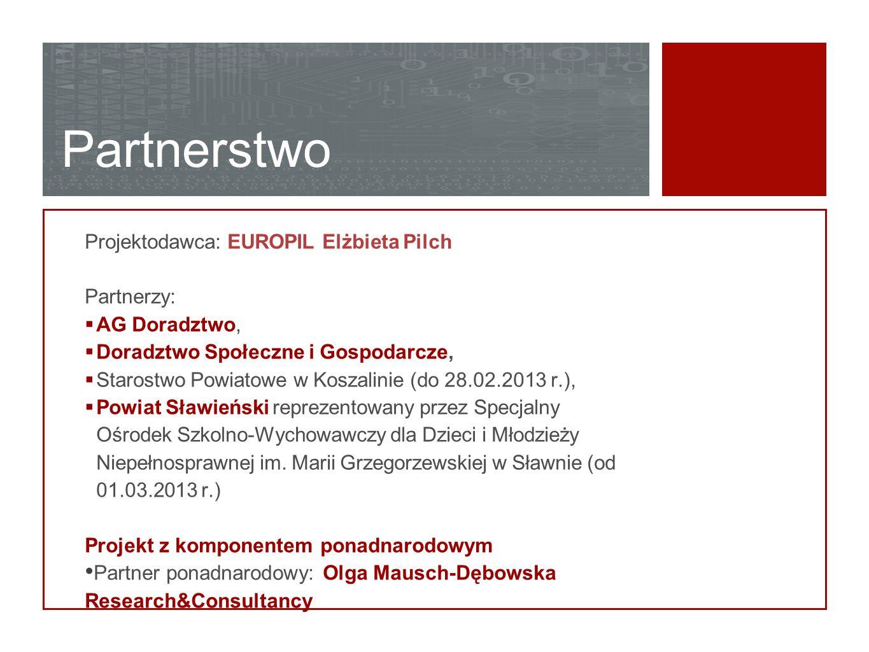 Partnerstwo Projektodawca: EUROPIL Elżbieta Pilch Partnerzy: