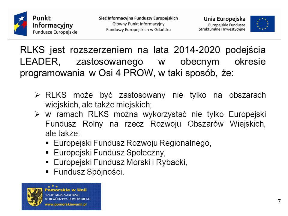 RLKS jest rozszerzeniem na lata 2014-2020 podejścia LEADER, zastosowanego w obecnym okresie programowania w Osi 4 PROW, w taki sposób, że: