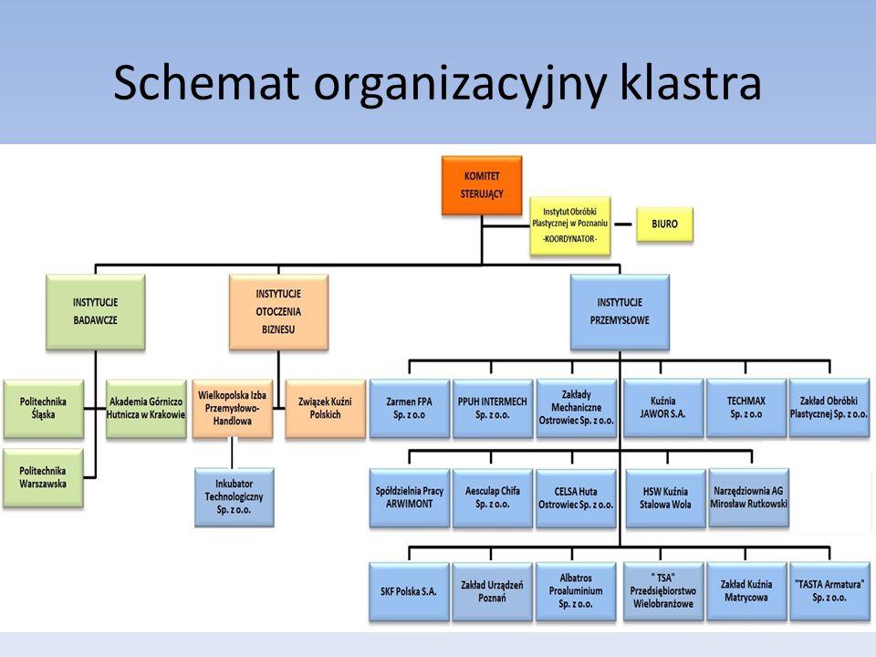 Schemat organizacyjny klastra