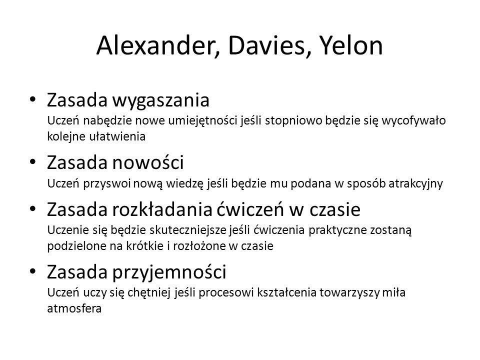 Alexander, Davies, Yelon
