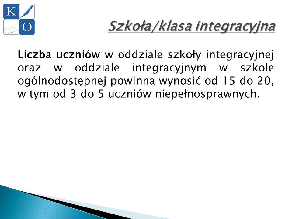 Szkoła/klasa integracyjna